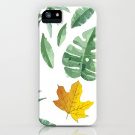 green leaf with pillow iPhone Case