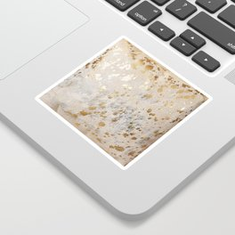 Gold Hide Print Metallic Sticker