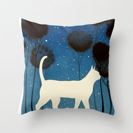 THE POETRY OF A NIGHT by Raphaël Vavasseur Throw Pillow