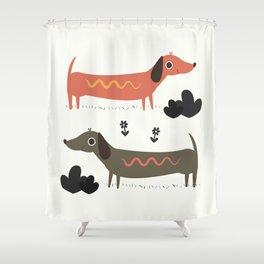 Wiener Dogs Shower Curtain