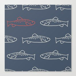 Cheeky Trout Canvas Print