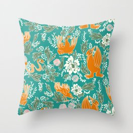 honolulu medieval party time. Throw Pillow