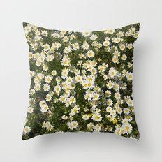 Sea daisies at the mountains Throw Pillow