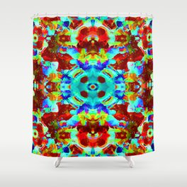 Neon & Fluorescents Shower Curtain