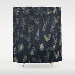 green garden at nigth mirror!!! Shower Curtain