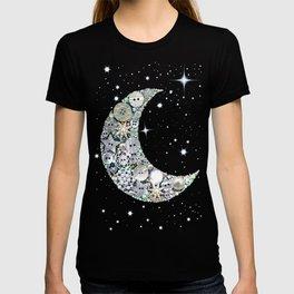 Vintage button Moon T-shirt