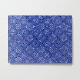 Muster - blauer Sturm Metal Print