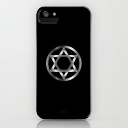 The seal of Solomon- a magical symbol or Hexagram iPhone Case