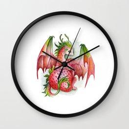 Strawberry dragon Wall Clock