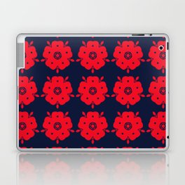 Japanese Samurai flower red pattern Laptop & iPad Skin