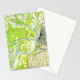 Vintage Memphis Map Stationery Cards