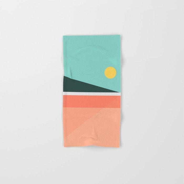 Geometric Landscape 15 Hand & Bath Towel