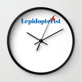 Top Lepidopterist Wall Clock