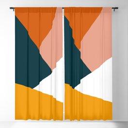 Colorful geometric design in orange & yellow Blackout Curtain