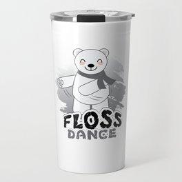 Trends Exercise Movement Flossing Gift Floss Dance  Move Polar Bear Travel Mug