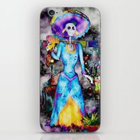 day of the dead iPhone & iPod Skins featuring Day Of The Dead by Serena Gailey