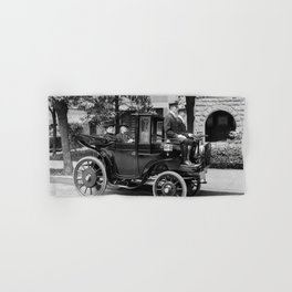 Vintage Automobile carrying Senator George Wetmore - 1906 Hand & Bath Towel