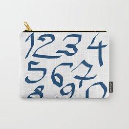 Chiffres bleus Carry-All Pouch