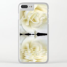 Sunset Rose Clear iPhone Case
