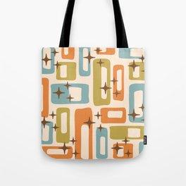 Retro Mid Century Modern Abstract Pattern 922 Orange Olive Blue Tote Bag