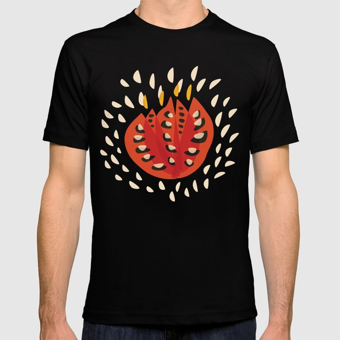 Red Abstract Tulip T-shirt