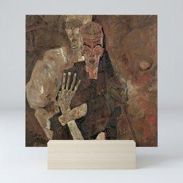 """Egon Schiele """"Self-Seer II (Death and Man)"""" Mini Art Print"""