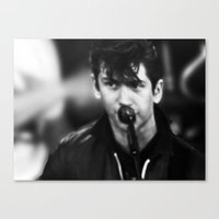 alex turner Canvas Prints featuring ALEX TURNER by PRINTS & MORE