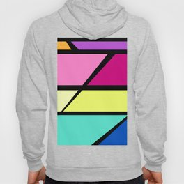 80s Inspired Retro Diagonal Abstract Hoody