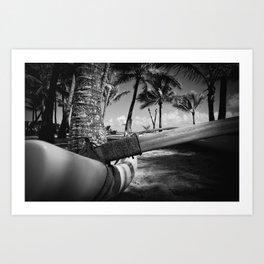 Kuau Palm Trees Hawaiian Outrigger Canoe Paia Maui Hawaii Art Print