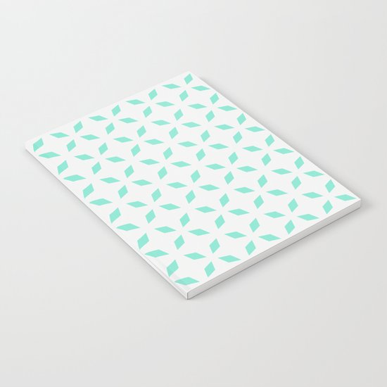 Mint green diamond pattern Notebook