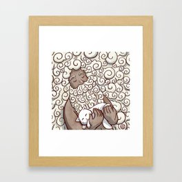 Cloud Beard Man Framed Art Print