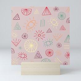 Eyes and Triangles Mini Art Print
