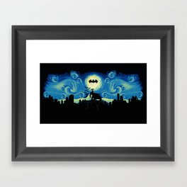 Starry Knight Gotham City Framed Art Print
