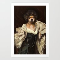 karu kara Art Prints featuring Ruffs and Collars - Kara by LiseRichardson