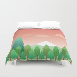 Peach Forest Duvet Cover