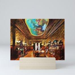 Chateau sur Mer Dining Room Watercolor - Newport Mansion Series - Jéanpaul Ferro Mini Art Print