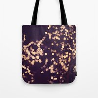 sparkle Tote Bags featuring Sparkle by elle moss
