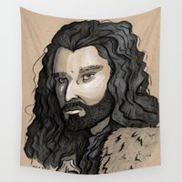 thorin Wall Tapestries featuring Thorin by Katy-L-Wood