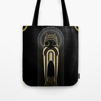 art deco Tote Bags featuring Art Deco by Mrs.Kirki
