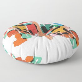Color Body Patrs Floor Pillow