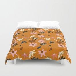 Fall flowers pattern Duvet Cover