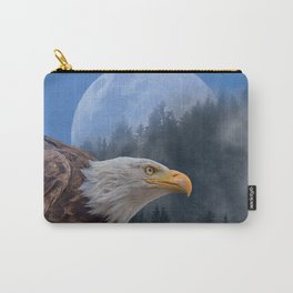 Eagle, Blue Moon, Forest Montage Carry-All Pouch