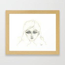 Gaze of a Princess Framed Art Print