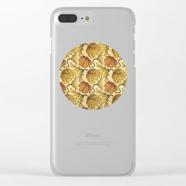 Retro 70's Golden Yellow Daisy Pattern  Clear iPhone Case