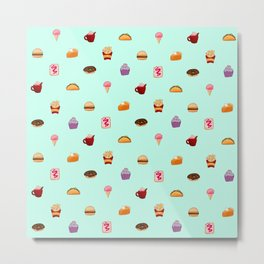 CUTE FOOD Metal Print