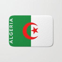 algeria country flag name text Bath Mat