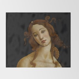 "Sandro Botticelli ""Venus"" (Sabauda Gallery, Turin) Throw Blanket"