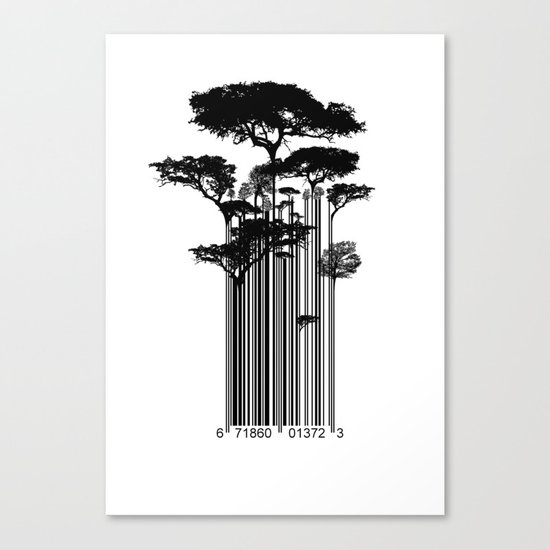 Barcode Trees illustration  Canvas Print