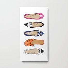 Designer Brand Shoes Metal Print