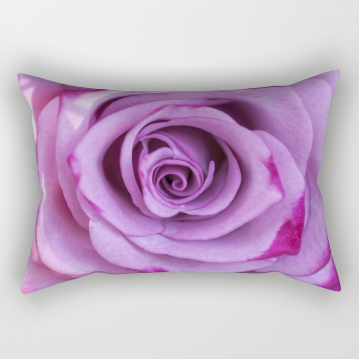 Heart of a rose I - Pink and purple Roses flowers Rectangular Pillow